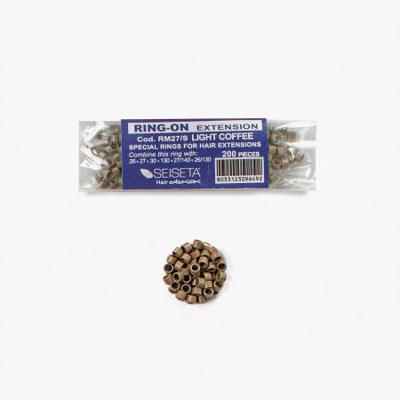 Aluminium Rings Kit - Light Brown - 200 pcs