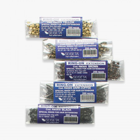 Aluminium Rings Kit - Mixed Colors - 1000 pcs