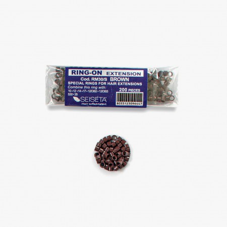 Aluminium Rings Kit - Brown - 200 pcs